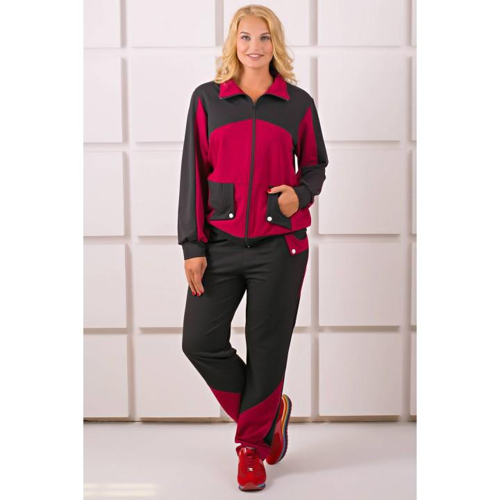 Спортивный костюм Бонита (бордовый)