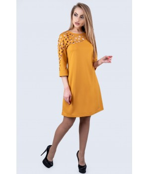 Платье Луиза (горчичный)