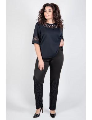 Женские брюки большого размера Санти (черный)