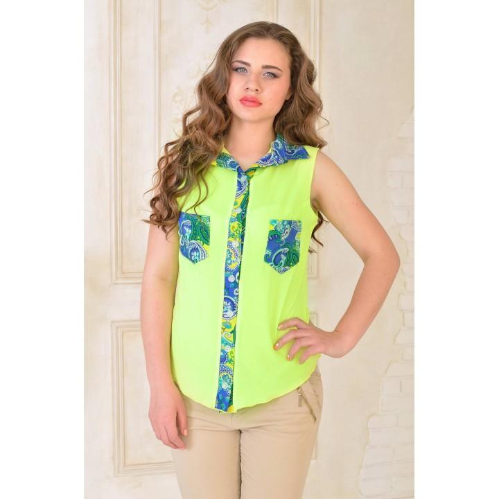 Рубашка Одилия (желтый) оптовая цена