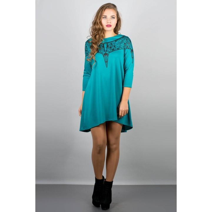 Платье Мэри-эль (бирюза) Оптовая цена