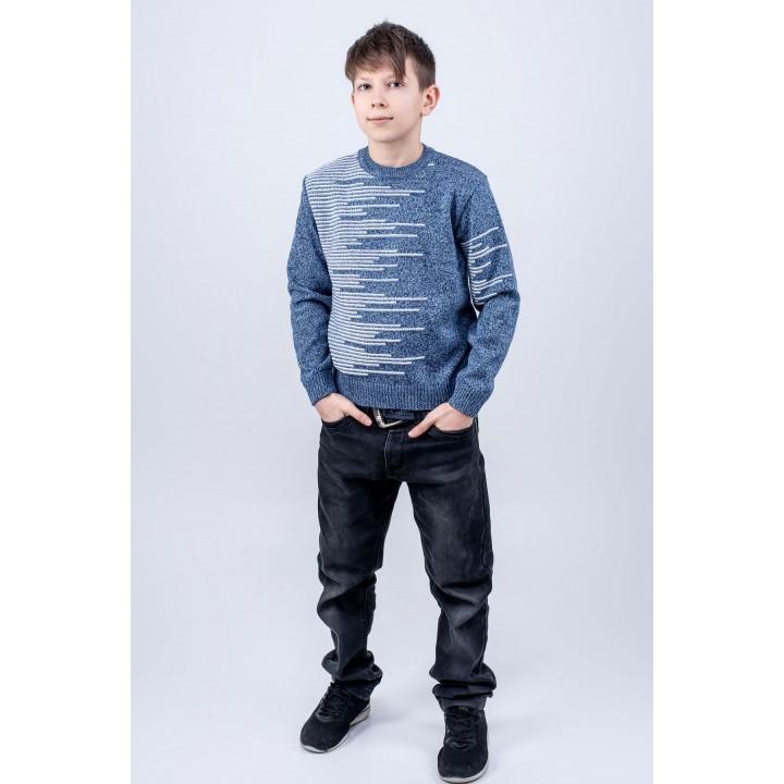 Детский свитер Виктор (синий)
