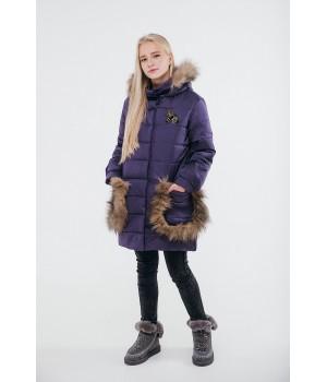 Зимняя детская куртка Ангелия (фиолетовый)