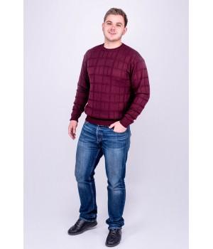 Мужской свитер Максим (бордовый)