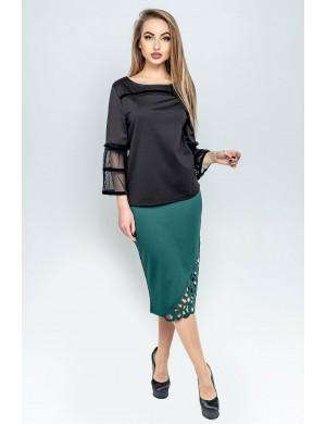 Женская юбка Аурика (зеленый)
