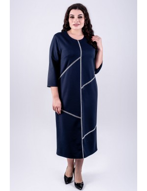 Женское платье большого размера Мери (синий)