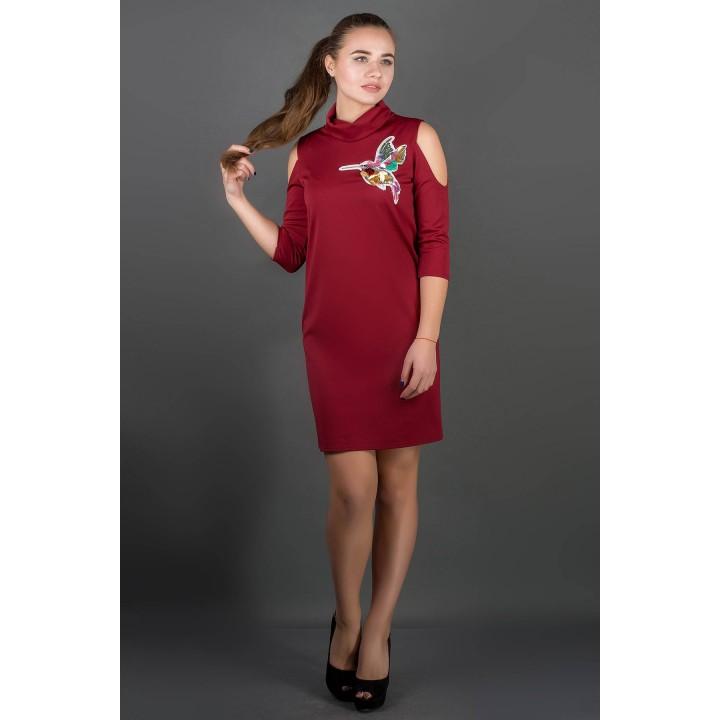 Платье Самира (бордовый)