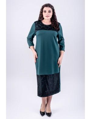 Женское платье большого размера Латика (зеленый)