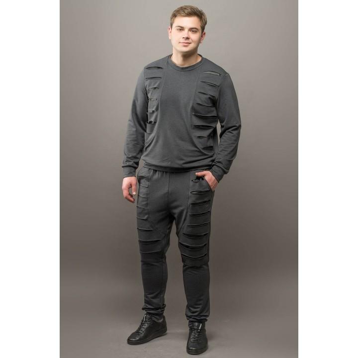 Мужской спортивный костюм Эполь (темно серый)