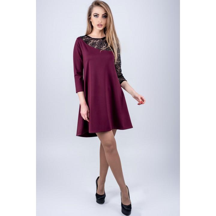 Платье Сакура (бордовый)