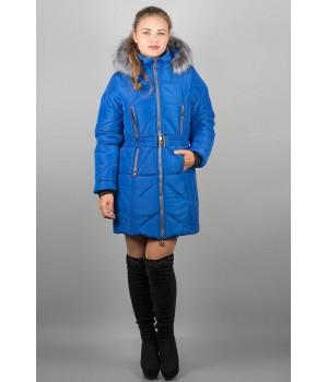 Зимняя куртка Дорри (электрик серый мех)