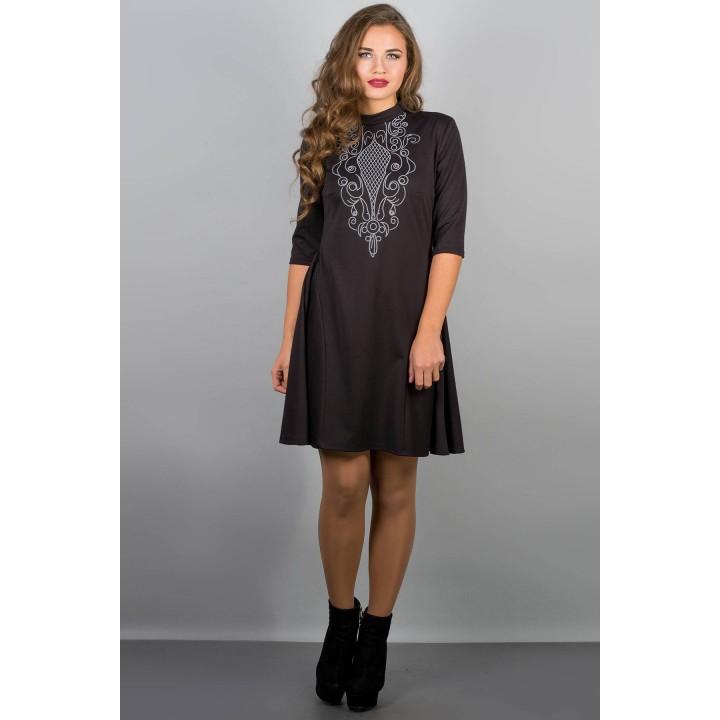 Платье Француаза (черный) Оптовая цена