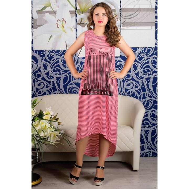 Платье Хелена (красная полоска) Оптовая Цена