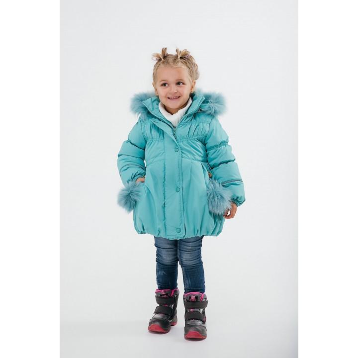 Детская зимняя куртка Бемби (мятный) Оптовая цена