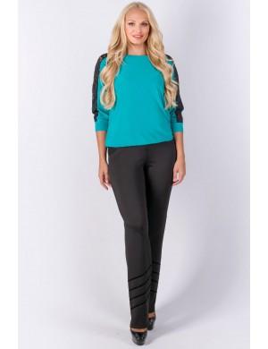 Женские брюки большого размера Анди (черный)