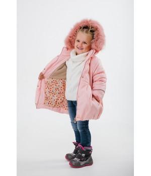Зимняя детская куртка Бемби (пудра)