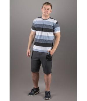 Мужская футболка Лаки (серый полоска)