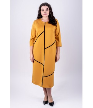 Платье Мери (горчичный)
