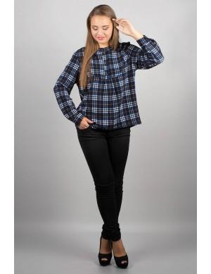 Женская рубашка Марчелло (синя-жёлтая)