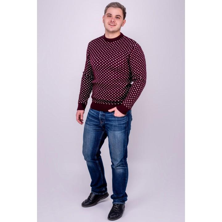 Мужской свитер Гамлет (бордовый)