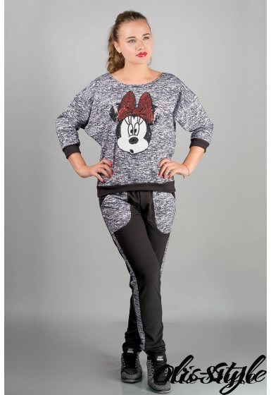 спортивный костюм Сандра (черный)   Оптовая Цена
