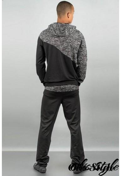 Мужской спортивный костюм Мон-пари ( черный) Оптовая Цена
