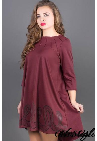 Платье Гретти (бордовый) Оптовая цена