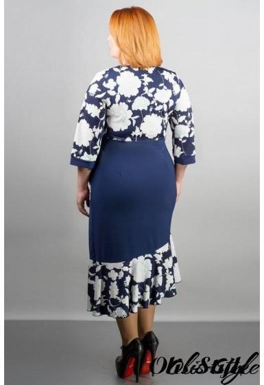 Платье Флорида (синий) Оптовая цена
