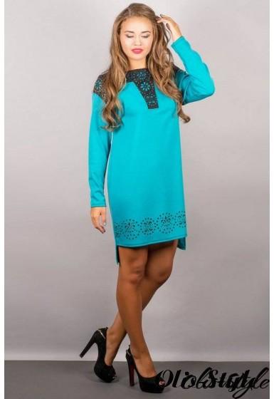 Платье Этилия (бирюза) Оптовая цена