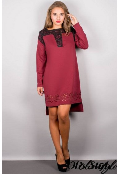 Платье Этилия (бордовый) Оптовая цена