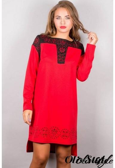 Платье Этилия (красный) Оптовая цена