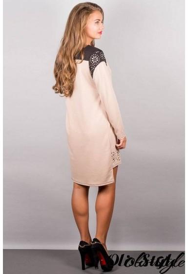 Платье Этилия (бежевый) Оптовая цена