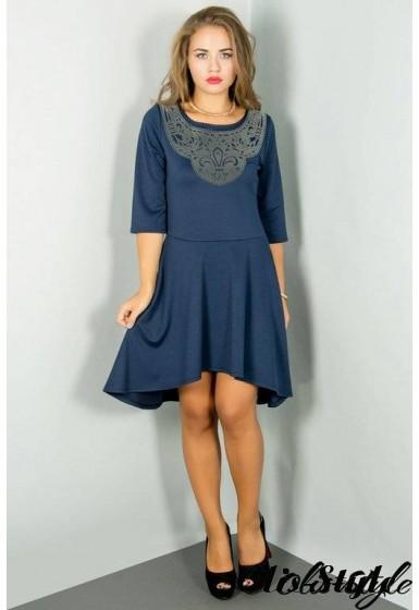 Платье Марсэлла (синий) Оптовая цена