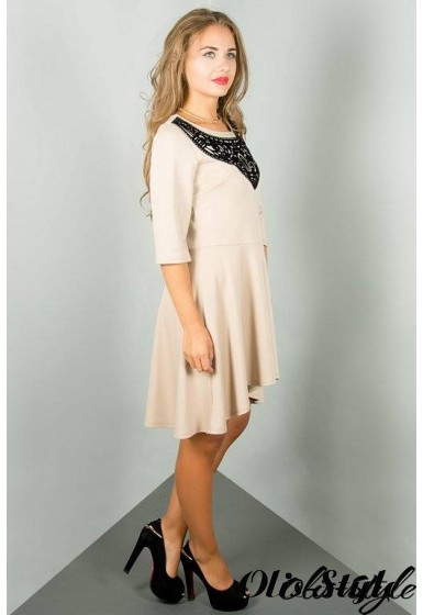 Платье Марсэлла (бежевый) Оптовая цена