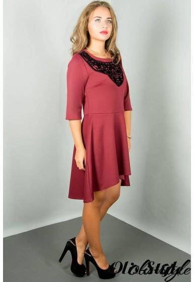 Платье Марсэлла (бордовый) Оптовая цена