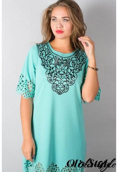 Платье Шедевр (мятный) Оптовая цена