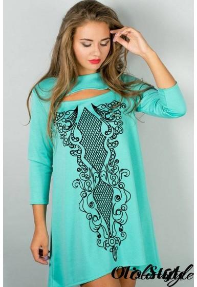 Платье Соланж (мятный) Оптовая цена