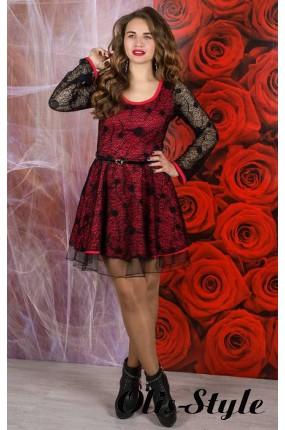 Платье Искушение (черный с кораллом)    оптовая цена