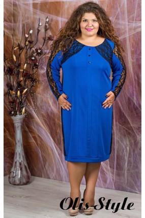 Платье Галатея (электрик  с гипюром)   оптовая цена