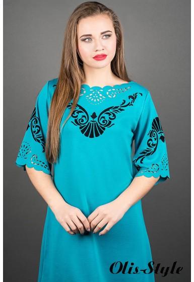 Платье Юлия (бирюза)  оптовая цена