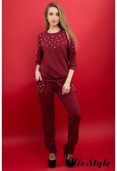 Спортивный костюм Тереза (бордовый) Оптовая цена
