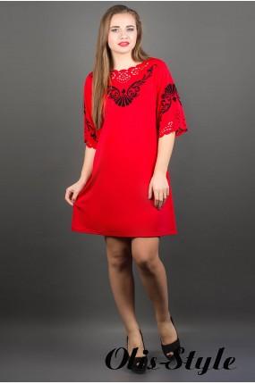 Платье Юлия (красный)    оптовая цена