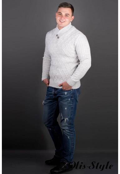 Мужской свитер Рубин (белый) оптовая цена