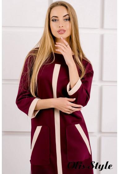 Платье Белинда (бордовый) Оптовая цена
