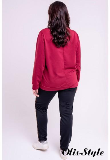 Спортивный костюм Альфа (бордовый) оптовая цена