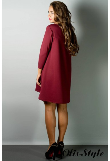 Платье Соланж (бордовый) Оптовая цена