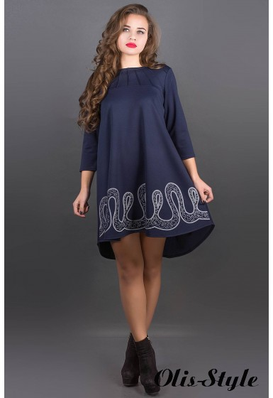 Платье Гретти (синий) Оптовая цена