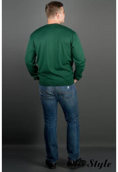 Мужской свитер Никки (зеленый) тонкий мысик оптовая цена
