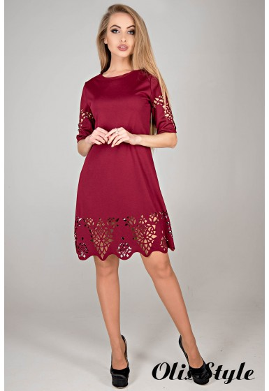 Платье Фисента (бордовый) Оптовая цена