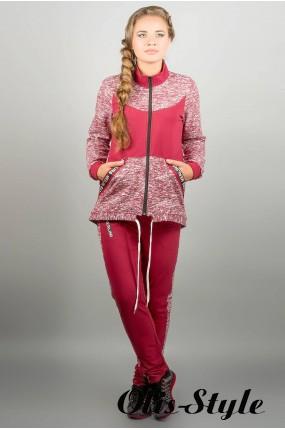 Спортивный костюм Лира (бордовый) Оптовая Цена